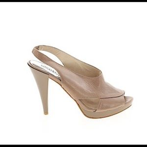 Michael Kors taupe leather pumps